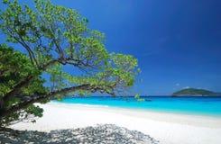 Tropischer Strand des Paradieses Lizenzfreies Stockfoto