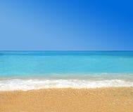 Tropischer Strand des Paradieses Stockfotos