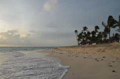 Tropischer Strand, Dominikanische Republik Lizenzfreies Stockbild