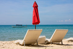 Tropischer Strand in Kambodscha Lizenzfreies Stockbild