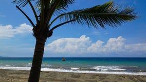 Tropischer Strand nach Sturm lizenzfreie stockbilder