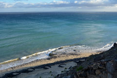 Tropischer Strand nahe Costa Calma in Fuerteventura, Kanarische Insel, Spanien Lizenzfreies Stockfoto