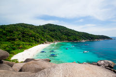 Tropischer Strand, Similan-Inseln, Andaman-Meer lizenzfreies stockbild