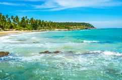 Tropischer Strand in Sri Lanka, Lizenzfreie Stockfotografie