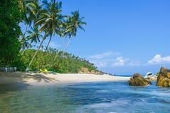 Tropischer Strand in Sri Lanka, Stockfotografie