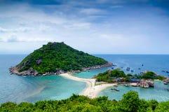 Tropischer Strand und Meer bei Nang Yuan Island Lizenzfreies Stockbild