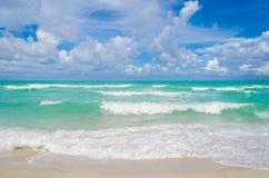 Tropischer Strand und Ozean Miamis Stockbild