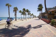 Tropischer Strand und Straße Lizenzfreies Stockbild
