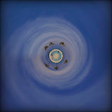 Tropischer Strandparadiesplanet Stockbild