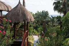 Tropischer Strandurlaubsort Stockbild