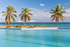 Tropischer Swimmingpool Lizenzfreie Stockbilder