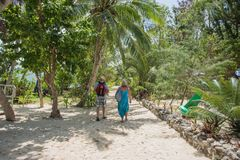 Tropischer Weg auf Geheimnis-Insel Lizenzfreie Stockbilder
