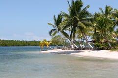Tropischer weißer Sand-Strand Stockfotos