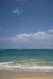 tropischer weißer sandiger Strand in Las Terrenas, dominikanisch stockfotos