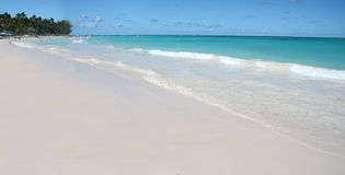 Tropischer weißer Sand-Strand, karibischer Ozean Stockbilder