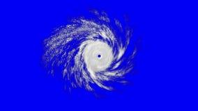 Tropischer Wirbelsturm auf Blau stock abbildung