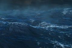 Tropischer Wirbelsturm auf dem Ozean Stockfotos