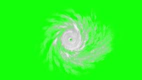 Tropischer Wirbelsturm auf grünem Schirm, CG-Animation lizenzfreie abbildung