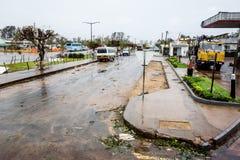 Tropischer Wirbelsturm Dineo-Zerstörung im citycenter Lizenzfreies Stockbild