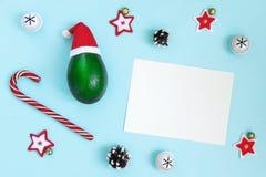 Tropisches beachy Weihnachtskartenkonzept, damit Zeit reist stockfotografie