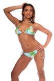 Tropisches Bikini-Baumuster Stockfoto