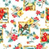 Tropisches Bild in einem Muster, Stockfotografie