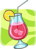 Tropisches Cocktail im Glas Stockbild