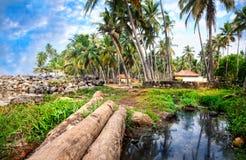 Tropisches Dorf Stockfotografie