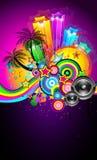 Tropisches Ereignis-Disco-Flugblatt stock abbildung