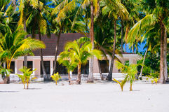 Tropisches Haus auf dem Strand von bantayan Insel, Santa Fe Philippinen, 08 11 2016 Lizenzfreies Stockfoto