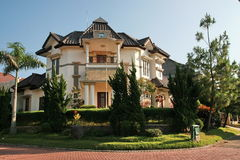 Tropisches Haus in Indonesien stockbilder