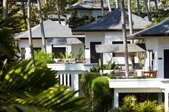Tropisches Hotelhaus Stockfotografie