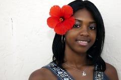 Tropisches Insel Mädchen Stockfotos