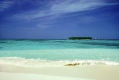 Tropisches Insel-Paradies stockfotografie