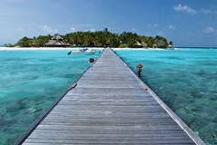 Tropisches Insel Paradies Maldives-- Stockfotos
