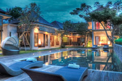 Tropisches Landhaus Stockbild