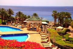 Tropisches Luxus-Resort-Hotel, Sharm el Sheikh, Ägypten lizenzfreie stockfotos