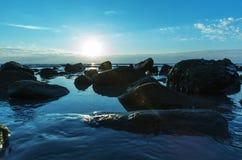 Tropisches Meer-sanset Lizenzfreie Stockfotos