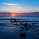 Tropisches Meer-sanset Lizenzfreies Stockbild