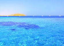 Tropisches Meer und Insel Stockfoto