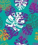 Tropisches mit Blumenmuster des Sommers Ausführliche vektorzeichnung lizenzfreie stockfotos