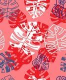 Tropisches mit Blumenmuster des Sommers Ausführliche vektorzeichnung lizenzfreie stockfotografie