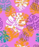 Tropisches mit Blumenmuster des Sommers Ausführliche vektorzeichnung stockfoto