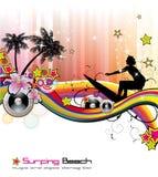 Tropisches Musik-Ereignis-Flugblatt Lizenzfreies Stockfoto