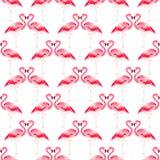 Tropisches Muster des nahtlosen Sommers mit Flamingovogel stock abbildung