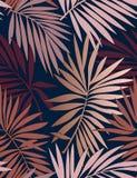 Tropisches nahtloses Muster mit Blättern vektor abbildung