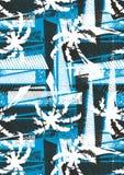 Tropisches Palmenschablonenmuster. Lizenzfreie Stockfotos