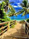 Tropisches Paradies der geheimen Flucht stockfoto
