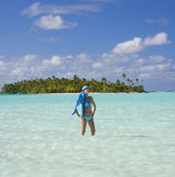 Tropisches Paradies - die Koch-Inseln Stockbild