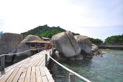 Tropisches Paradies Koh Nang Yuan-Insel Lizenzfreie Stockfotografie